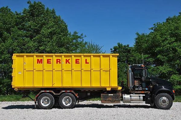 Merkel Metal Recycling & Container Service Truck